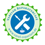 "Logo des Schaufensters Reparatur-Café Varel in der ""Weberei"""